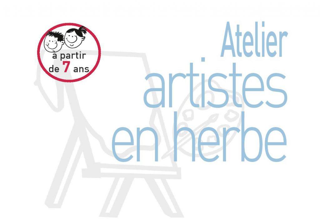 illustration atelier artistes en herbe