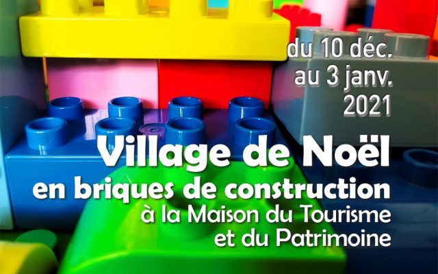 Village de Noël en briques de construction