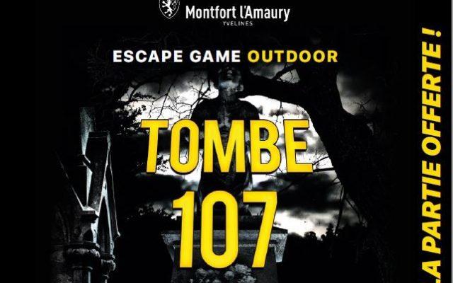 Escape game, Tombe 107, partie offerte les 12 et 13 juin