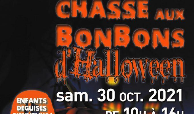 affiche chasse aux bonbons d'Halloween2021©SCom_MontfortlAmaury_visuel site