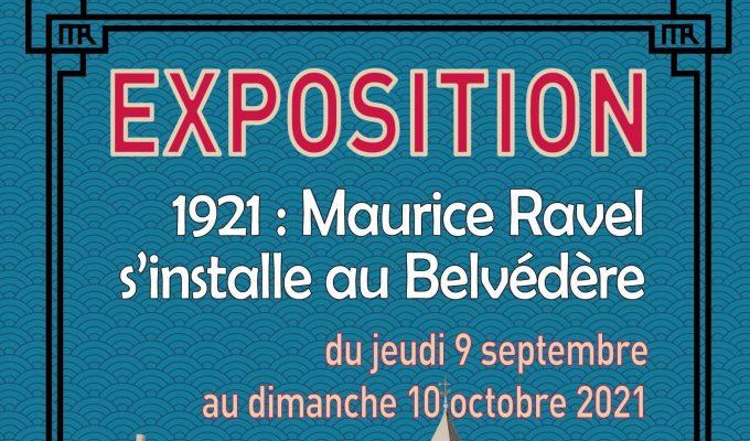 affiche expo 100 ans de Ravel à Montfort_site