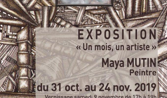affiche exposition Maya Mutin - novembre2019